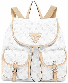GUESS Confidential Logo Backpack - Handbags  amp  Accessories - Macy s Guess  Bags 55c383957dd44
