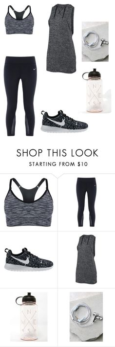 """""""Untitled #78"""" by r-bye ❤ liked on Polyvore featuring NIKE, Under Armour and Happy Plugs"""