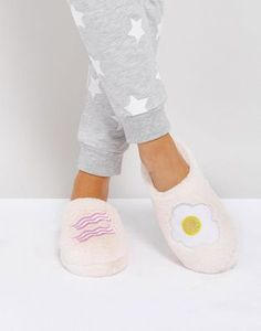 Bacon and egg slippers