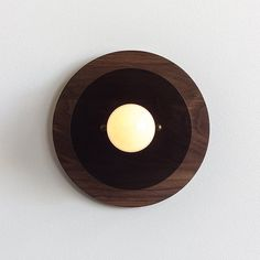 8 Concentric Wall or Ceiling Light in Walnut & by ObjectandLight
