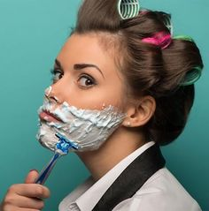 Men might do it all the time, but for women, shaving your face might seem like a scary thing to do.