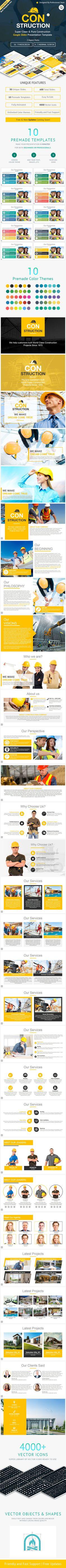 Construction Google Slides Presentation Template. Download here: https://graphicriver.net/item/construction-google-slides-presentation-template/17178458?ref=ksioks