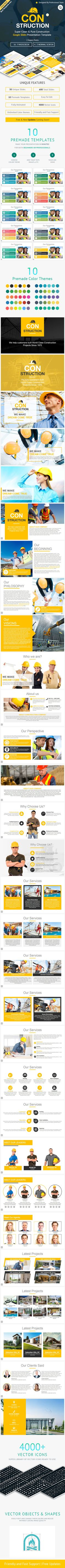 Construction #Google #Slides #Presentation Template - Google Slides Presentation #Templates Download here: https://graphicriver.net/item/construction-google-slides-presentation-template/17178458?ref=alena994