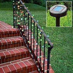 Gudcraft 5805 Solar Powered Multi Color Christmas Lights Solar String Lights 50 LED by Gudcraft. $14.90. Solar-powered decorating lights - no outlet needed! Now decorate anywhere without dangerous extension cords or need for an outlet. Sun charges string of 50 lights by day, turn on automatically at dusk and run for about eight hours! No energy cost! Great near road, around mailbox or lamp post - now you're not limited to near by outlets. 23' length.