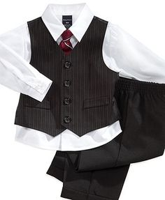 Nautica Little Boys' 4-Piece Vest Set - ring bearers?