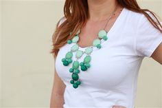J Crew Inspired Ombre Bubble Necklace