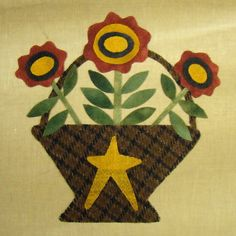 wool applique- another Primitive Gatherings Favorite!!!