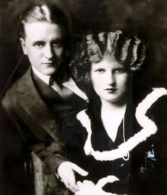 Real life tragedy: F. Scott Fitzgerald and his wife Zelda, whose descent into schizophrenia was one of the great tragedies of the writer's personal life