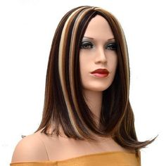 The Sexy Light Brown Big Wave Centre Part Long Synthetic Fiber Hair Wig, is part of our wig starter collection from 'Go'. This is a low cost synthetic fiber wig Brown With Blonde Highlights, Caramel Highlights, Hair Highlights, Balliage Hair, Straight Bangs, Cosplay Hair, Womens Wigs, Lace Wigs, Wig Hairstyles