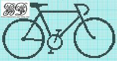 Free bike cross stitch pattern and other transportation-themed freebies (cars, VW van, VW bug, etc)
