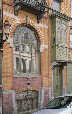 Schaerbeek - Maison Langbehn - Rue Renkin 90-92 - VAN HALL Jean