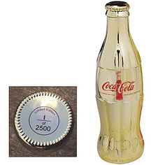 Celebrating 100 Years of the Coca-Cola Bottle Gold Plated...