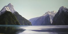 Jane Sinclair is a fine art painter specialising in NZ birds and landscapes, as well as an experienced art tutor. Art Tutor, New Zealand Landscape, Milford Sound, Landscape Paintings, Landscapes, New Art, Birds, Mountains, Canvas