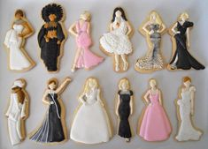 Oscar Cookies from Oh, Sugar! Events  TOP: Eva Mendes, Cher, Charlize Theron, Bjork, Blake Lively, Charlize Theron BOTTOM: Celine Dion, Julia Roberts, Kim Basinger, Reese Witherspoon, Gwyneth Paltrow, Drew Barrymore (No Halle Berry?)
