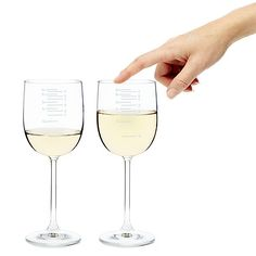 Musical Wine Glasses - the glass shows you the level of wine you need to hit a certain note