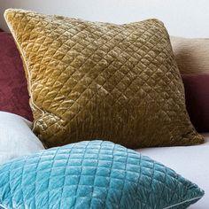 Bella Notte Pillow Sham Silk Velvet Quilted