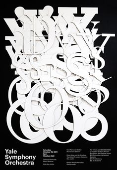 Jessica Svendsen, black and white, graphic design, poster, typography