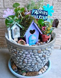I love the idea of letting the kids make a little place for fairies or little folk outside this summer.