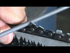 Sharpen a Chainsaw Chain - Tool Tip #10 Making Sawdust? How to hand sharpen a chainsaw chain - YouTube