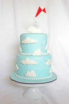 Mary Poppins Kite in the Clouds Cake by Rose Bakes