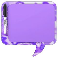 A Purple & White Abstract | Dry Erase Board  $43.40  by GLManley  - cyo customize personalize unique diy