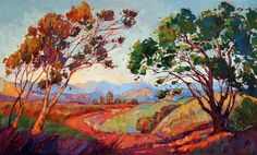 """""""Colors of California"""" original impressionist oil painting by Erin Hanson"""