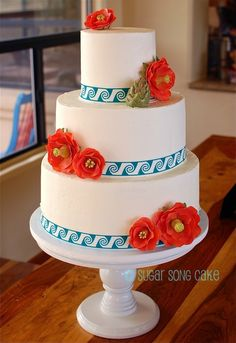 Cactus Blossom Southwestern Wedding Cake
