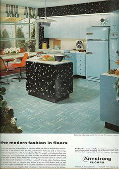 50's kitchen...look an island even in the 50's