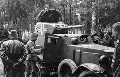 Russie, Un véhicule blindé russe BA-10M capturé et versé dans la ''1.SS-Infanterie-Brigade (mot)'' sous le nom de Panzerspähwagen BA 203(r) (JPEG obrázek, 800×515 bodů)
