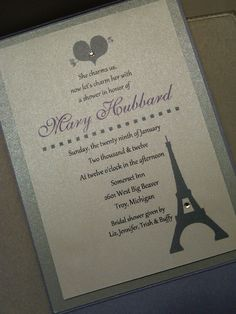 Paris theme invitation! By Charm www.facebook.com/thatscharm