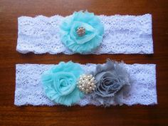 Garter Wedding Garter Garter Set Lace Garter by BloomsandBlessings, $18.00