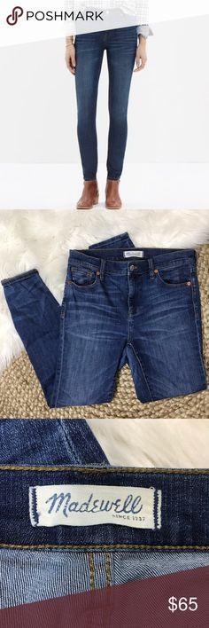 68cc03dc2e87 Madewell High Riser Skinny Blue Jeans Madewell High Riser Skinny Blue  Jeans. Size 29.