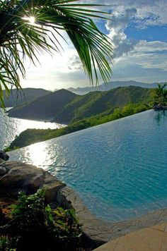 Pool beside the slope stunning
