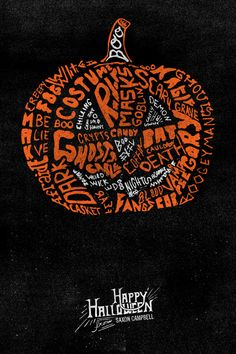 Designer Saxon Campbell created a series of cool typography illustrations for the Halloween season.