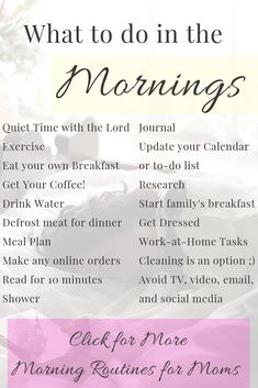 How to Create a Marvelous Morning Routine for Moms Looking for tips on how to start your morning? Working Mums, Working Mother, Single Parenting, Parenting Advice, Parenting Toddlers, Parenting Books, Single Mom Help, Single Moms, Mom Planner
