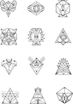 Small tattoo designs. I like the geometric look. Maybe One of these might make its way onto me somewhere...
