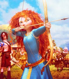 Day 29: Favorite Overall Moment... when Merida starts out to the archery field, starts ripping her dress, and marching through DOMinating the guys, love the definace! Love the look in her eyes! Love it!