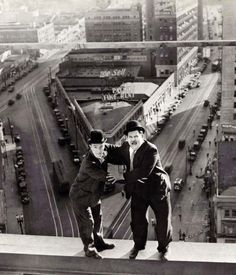 Laurel & Hardy......1929.   I loved watching these old movies growing up!!