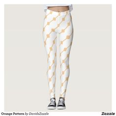 Orange Pattern Leggings  Available on many more products! Type in the name of this design in the search bar on my Zazzle products page!   #abstract #art #pattern #design #color #accessory #accent #zazzle #buy #sale #fashion #clothes #apparel #tank #top #shirt #leggings #tights #women #living #modern #chic #contemporary #style #life #lifestyle #minimal #simple #plain #minimalism #square #line #white #orange
