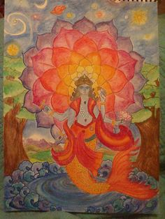 Waldorf ~ 5th grade ~ Ancient India ~ Vishnu the Preserver ~ main lesson book