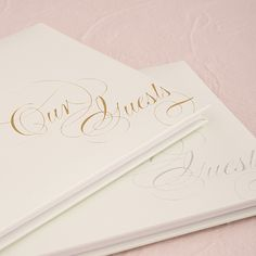 Pure Elegance Special Occasion Guest Book With Blank Pages - #centerofattention #wedding #guestbooks