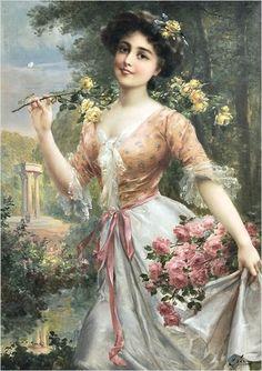 Pintura: Mulheres e flores – 18