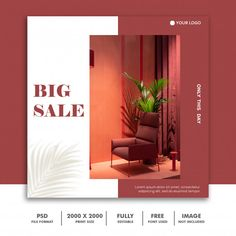 Big sale social media post template | Premium Psd #Freepik #psd #banner #sale #template #geometric Food Graphic Design, Ad Design, Flyer Design, Layout Design, Social Media Banner, Social Media Design, Social Media Graphics, Instagram Design, Free Instagram