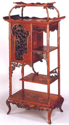 Art Nouveau Curio by Emile Galle Real Wood Furniture, Unique Furniture, Vintage Furniture, Mobiliário Art Nouveau, Muebles Art Deco, Art Nouveau Furniture, French Art, Art And Architecture, Decoration