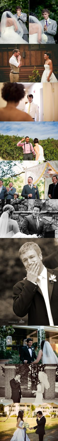 Men's Reactions To Their Brides On Their Wedding Day. too precious