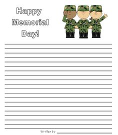 Classroom Freebies: Memorial Day Writing Paper
