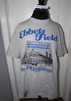 fcc9dfc50 Brooklyn Dodgers Ebbets Field Commemorative T Shirt 1955 World Champs XL   BrooklynDodgers  baseball