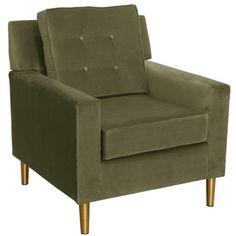 Arm Chair in Regal Moss green