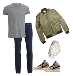 """Male street wear #2"" by syledbyallief on Polyvore featuring Nudie Jeans Co., NIKE, Rolex, Yves Saint Laurent and Belstaff"