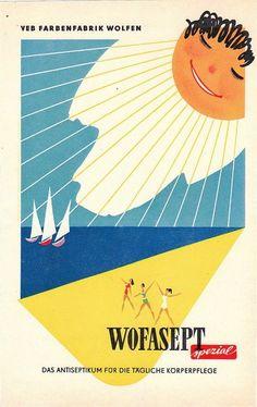 VEB Farbenfabrik Wolfen Antiseptikum Wofasept DDR 1959 Werbung Ad